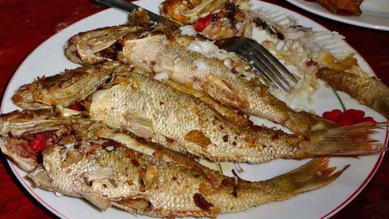 イカンバカール 焼き魚