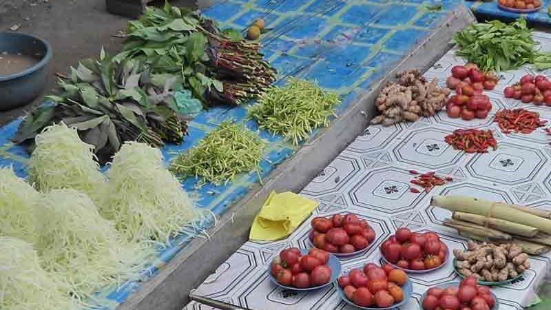 ケイ島の野菜市場