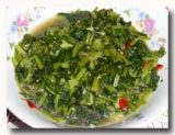 トゥミス・サユール・ヒジョー 青菜の炒め煮