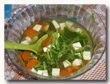 スプ・タフ・サユラン 豆腐と野菜のスープ