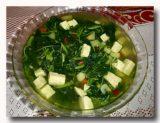 スプ・タフ・サルラン 豆腐と野菜のスープ