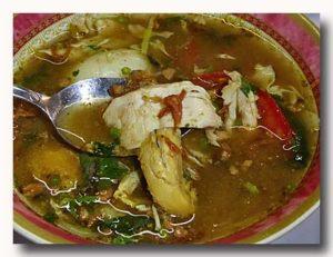ソトアヤム 鶏肉のスパイシースープ