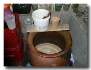 チチャの入った壺