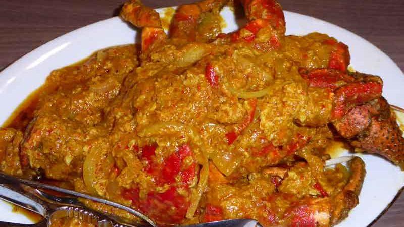 クピティン・クラパ・サウス・パダン 椰子蟹のパダン風ソース