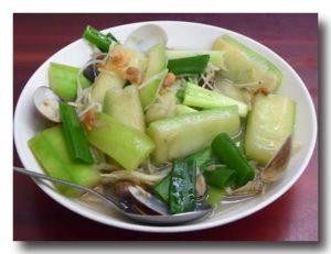 蛤蜊絲瓜  [ハマグリとヘチマの炒め物]