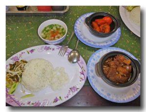 コム・トム・リム 海老の甘辛煮定食