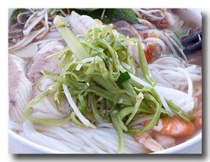ブン・ヌック・レオ クメール風汁麺 中から野菜