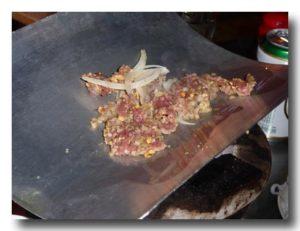 瓦焼き肉の瓦アップ ステンレス製