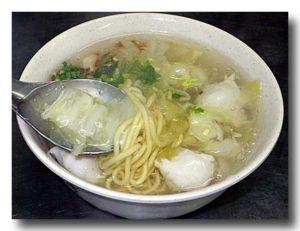 浮水魚羹麺 魚のつみれ入りとろみスープ麺