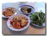 ベトナムの食堂のおかず