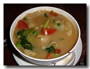 ベジタブル・ぺ・シー 野菜餃子スープ