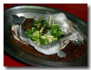 清蒸鱒魚 鱒の蒸し物