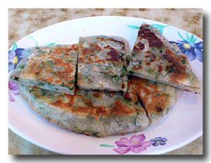 鼎泰豊の葱油餅。