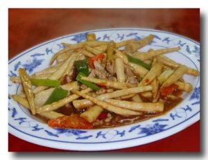 炒剣筍 姫竹の炒め物