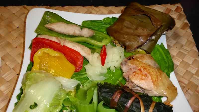ルカイ族伝統ご飯プレート