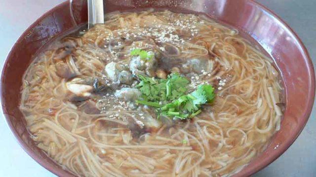 蚵仔麺線 hé zǐ miàn xiàn [台湾風牡蠣素麺]